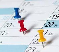 Calendar with Color Pins Image