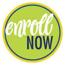 Enroll Now Graphic with Green Background