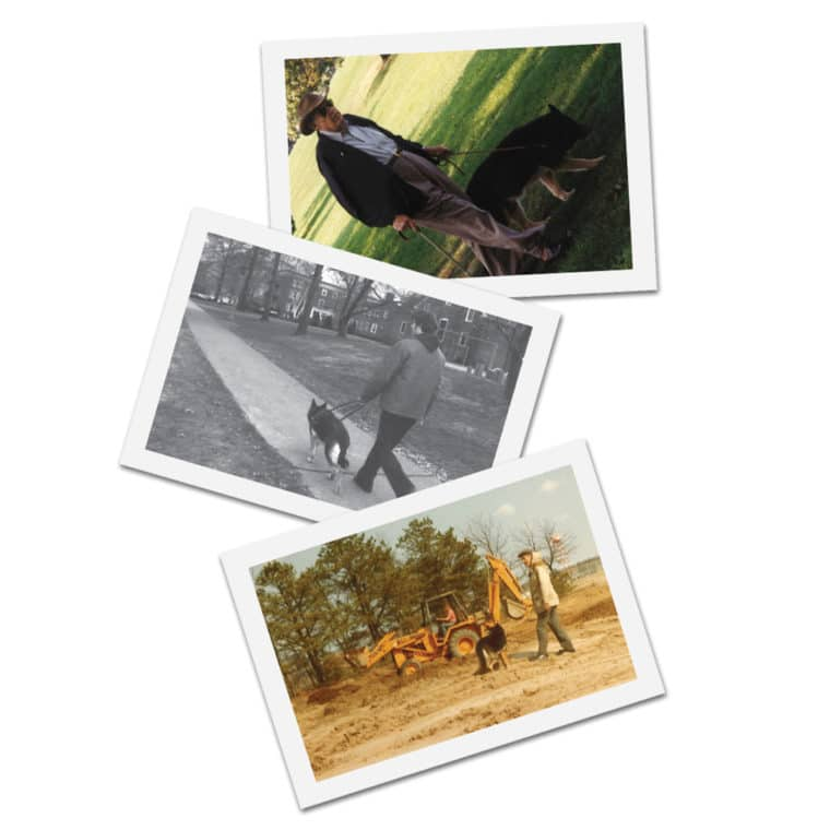 Vintage images of Fidelco Guide Dogs